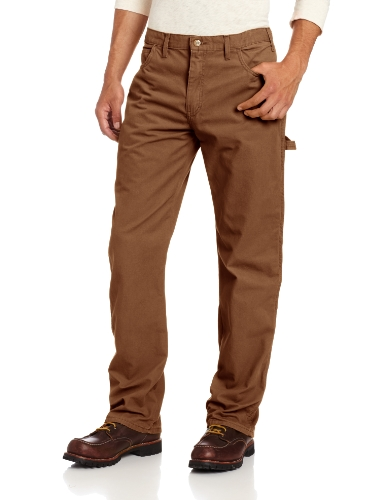 Dickies Men's Relaxed Straight Fit Lightweight Duck Carpenter Jean, Timber, 34W x 32L