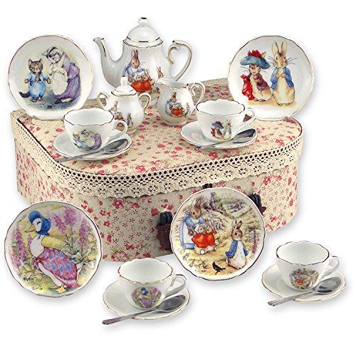 Rabbit Tea (Beatrix Potter Tea Set Peter Rabbit & Friends By Reutter Porcelain -)