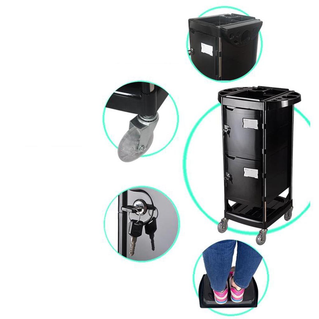 Royal@ Beauty Salon Hair Care Product with Lock Tool Cabinet, Double Door with Drawer Beauty Spa Dedicated Trolley by Beauty trolley (Image #6)