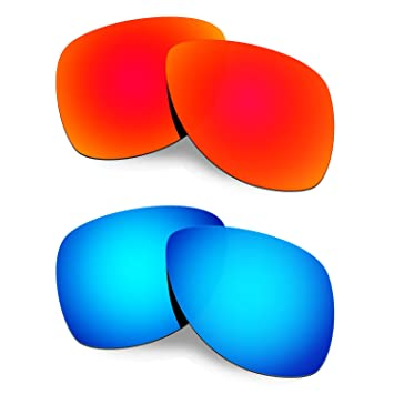 cf88daf62a1 HKUCO Mens Replacement Lenses For Oakley Dispatch 2 Sunglasses Red Blue  Polarized