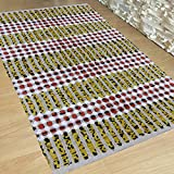 Cheap Cotton Reversible Chindi Braided Rag Rug for Kitchen, Livingroom, Entry Way, Laundry Room, and Bedroom 2 x 3-Feet-Hand woven & Hand Stitched, attractive artisan look (2 X 3, Yellow Multi)