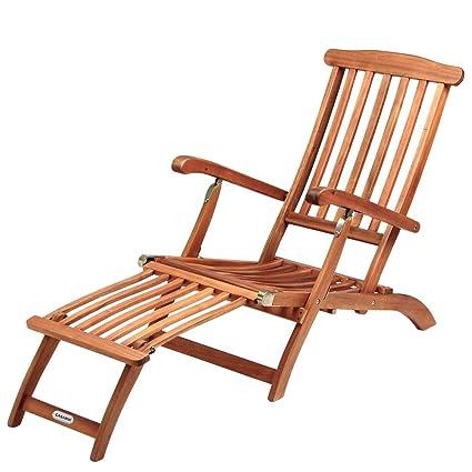 Liegestühle Aus Holz.Sonnenliege Queen Mary Akazien Holz Verstellbar Fußsegment Klappbar Sonnenstuhl Deckchair Garten Liegestuhl Liege