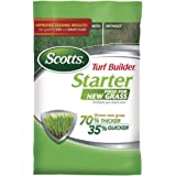 Scotts Turf Builder Starter Food for New Grass, 42 lb. - Lawn Fertilizer for Newly Planted Grass, Also Great for Sod and…