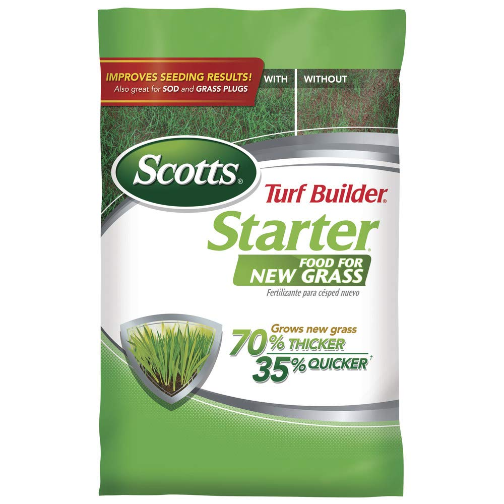 Scotts Turf Builder Lawn Food - Starter Food for New Grass, 14,000-sq ft (Lawn Fertilizer for Newly Planted Grass) (Not Sold in Pinellas County, FL) by Scotts