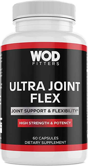 WODFitters Ultra Joint Flex Capsules for Athletes - High Potency Joint Support Complex Helps Cushion & Protect Joints (60 Capsules)