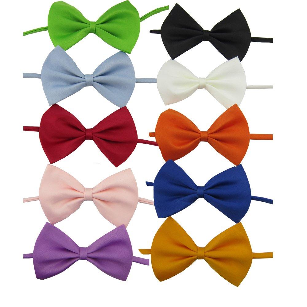 Ycnk 10couleurs assorties pour chien chat chiot Collier nœud papillon Cravate Collier réglable 8–43, 2cm pour fête de mariage Accessoires de toilettage