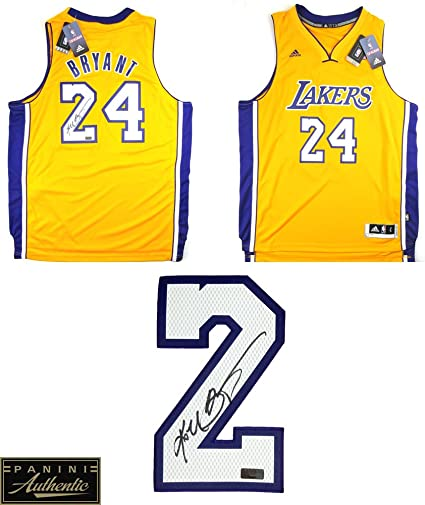 856f5e144573 Kobe Bryant Autographed Signed Los Angeles Lakers Adidas Swingman Gold NBA  Jersey - Panini Authentic at Amazon s Sports Collectibles Store