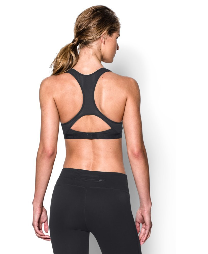 Under Armour Women's Armour High Bra, Black (001)/Black, 32A by Under Armour (Image #2)