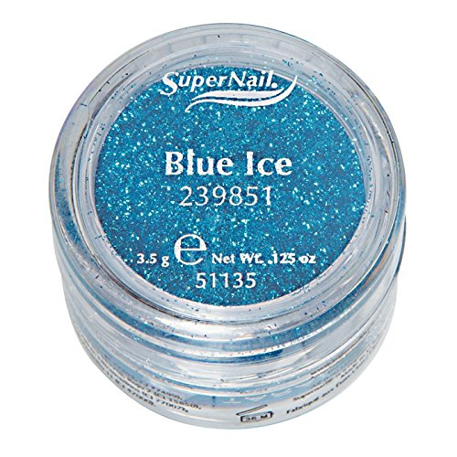 Supernail Glitter, Blue Ice, 0.125 Ounce