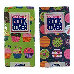 Set of 2 Book Covers: Jumbo Size - Cupcake Set