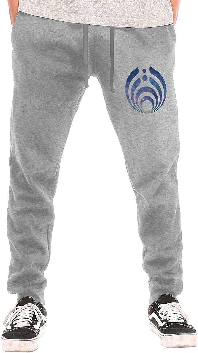 GanCheng 2020 Classic Pants for Adult Man Black Trousers DJ Bassnectar Logo