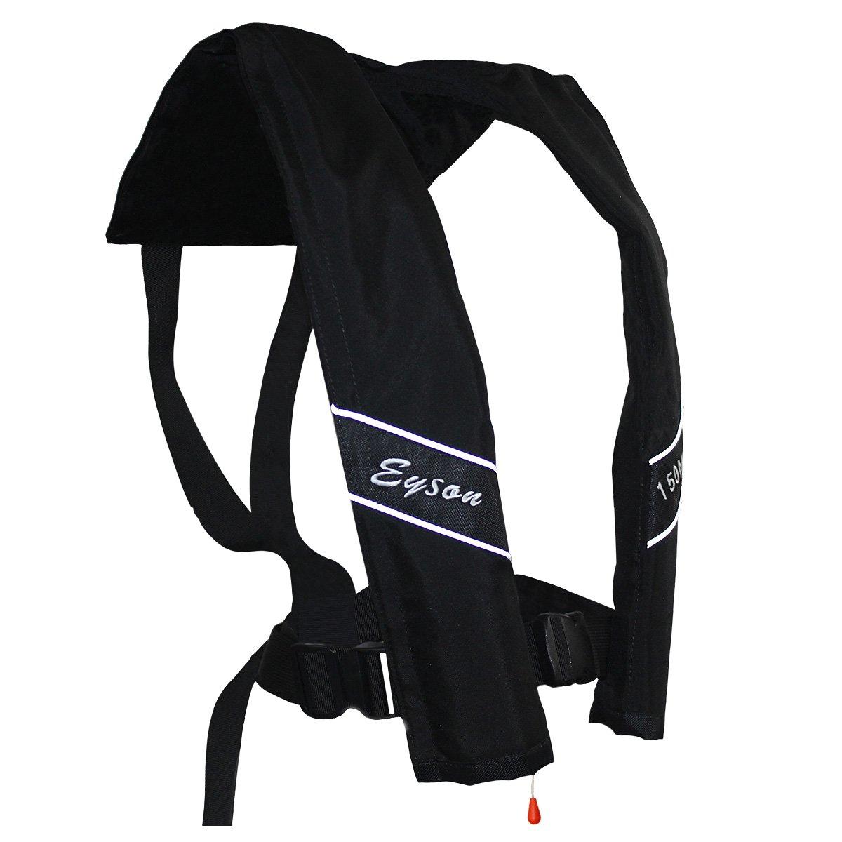 bdccd0a859 Amazon.com   Eyson Slim Inflatable PFD Life Jacket Life Vest Adult  Automatic (Black)   Sports   Outdoors