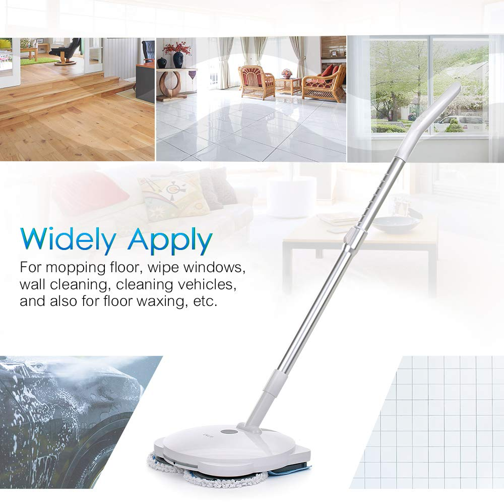 ENLiF Rechargeable Wireless Electric Mop Cordless Floor Cleaning Machine Electric Handheld Mop Electric Water Spraying Floor Wiping Machine Floor Cleaning Floor Care Device Multifunctional Swivel Mop by Blusea (Image #6)