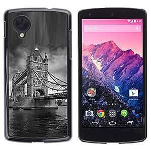 "For LG Nexus 5 D820 D821 , S-type Arquitectura London Bridge Blanco y Negro"" - Arte & diseño plástico duro Fundas Cover Cubre Hard Case Cover"