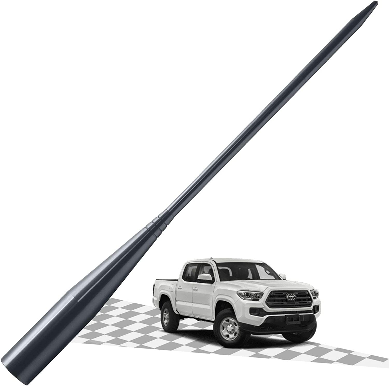 Carbon/Black 3.2 Inches Elitezip Antenna Compatible with Ford Focus 2000-2007 Optimized AM//FM Reception with Tough Material