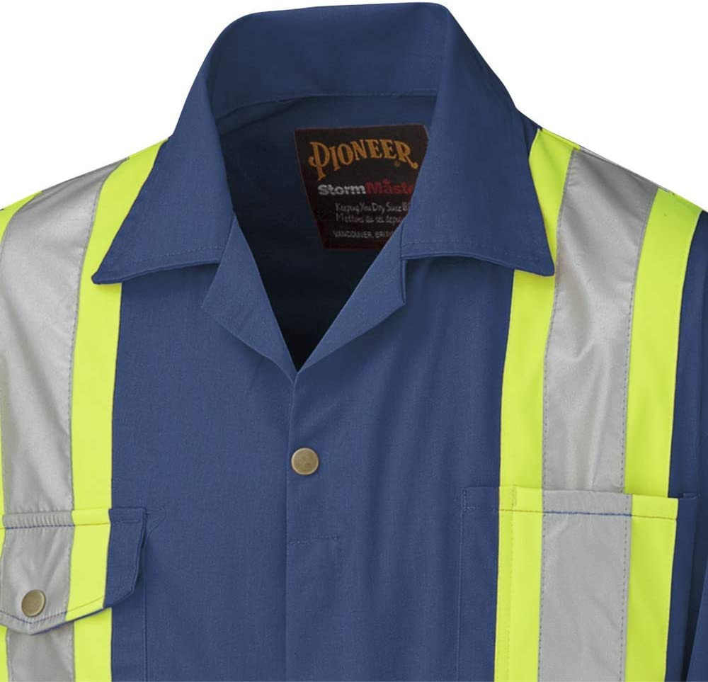 Pioneer CSA Action Back High Visibility Work Coverall With Elastic Waist /& Adjustable Wrist 7-Pocket Navy Blue V202058T-42 Tall Fit 42