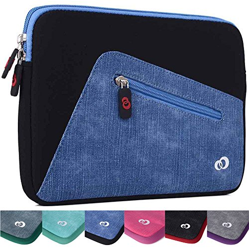 "Kroo Checkpoint Friendly Tablet Sleeve fits Polaroid 9-inch, S9, Ematic 10"" Genesis Prime XL Tablet (Black/Riverside Blue Universal Case) -  EnvyDeal, ND11VXK1