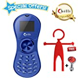 Chilli Spinner Phone World's Slimmest Mobile Phone Cum Spinner Credit Card Sized - Blue