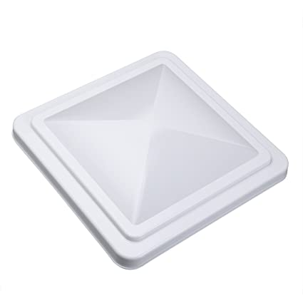 vetomile 14x 14 rv roof vent cover white universal replacement vent lid for - Trailer Roof Vent