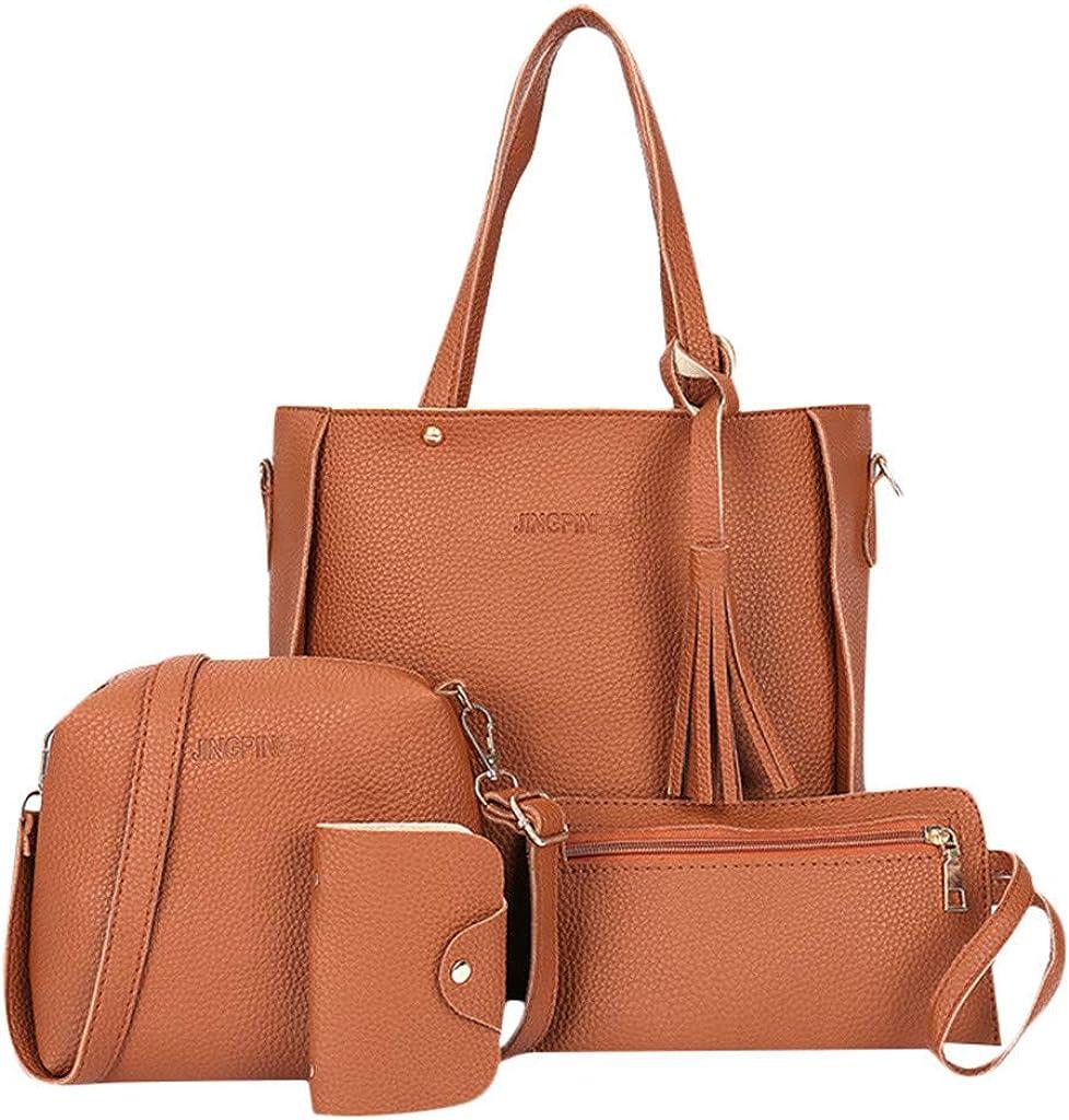 XEDUO Woman Bag Shoulder Bag Messenger Bag Wallet Handbag Four-Piece