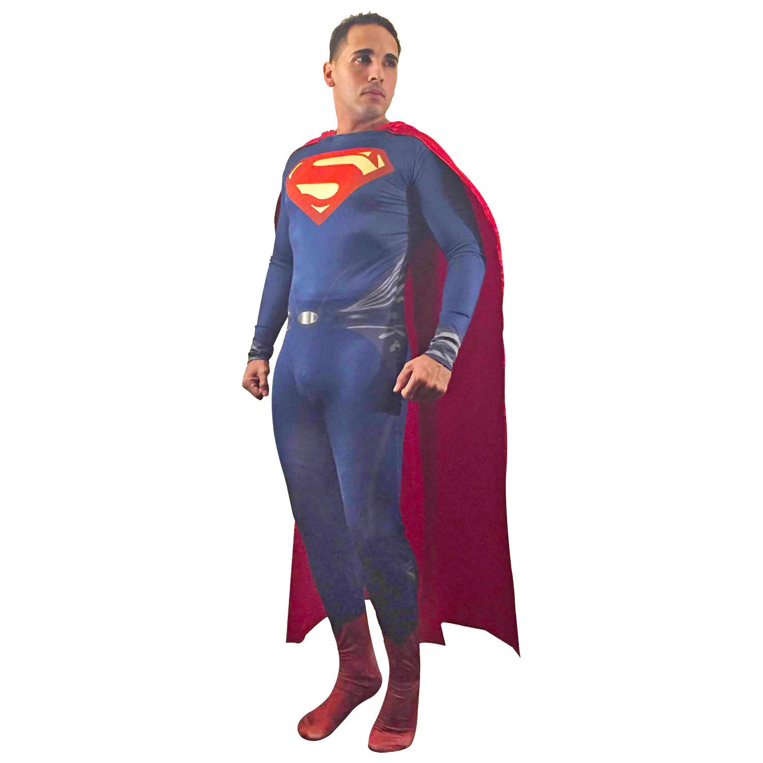 Amazon.com Adult Superman of Steel Costume Superhero Cosplay Zentai Cape (3X-Large Red) Clothing  sc 1 st  Amazon.com & Amazon.com: Adult Superman of Steel Costume Superhero Cosplay Zentai ...