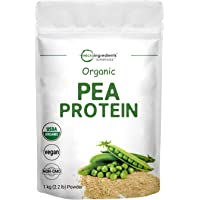 Organic Pea Protein Powder, 1KG (2.2 Pounds), Pea Protein Organic from Plants, Easy to Digest, Rich in Essential Amino…