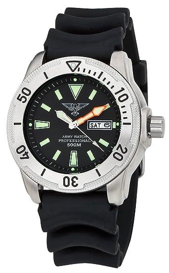 ARMY WATCH EP860 PROFESIONAL 500mt RELOJ DE BUCEO PARA HOMBRE: Amazon.es: Relojes