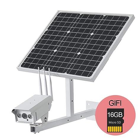 1080P HD Cámara IP inalámbrica con 60W Panel Solar Potencia Wi-Fi ...