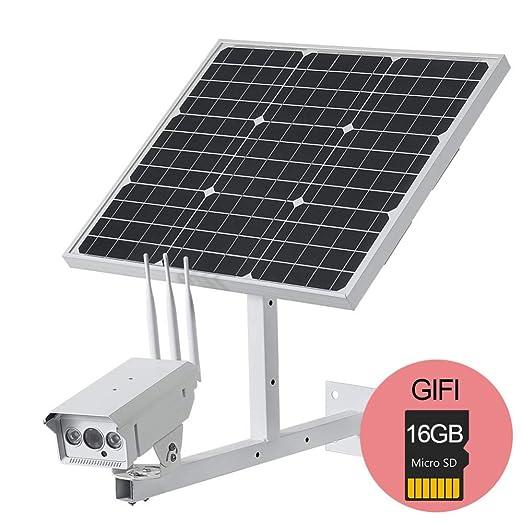 1080P HD Cámara IP inalámbrica con 60W Panel Solar Potencia ...