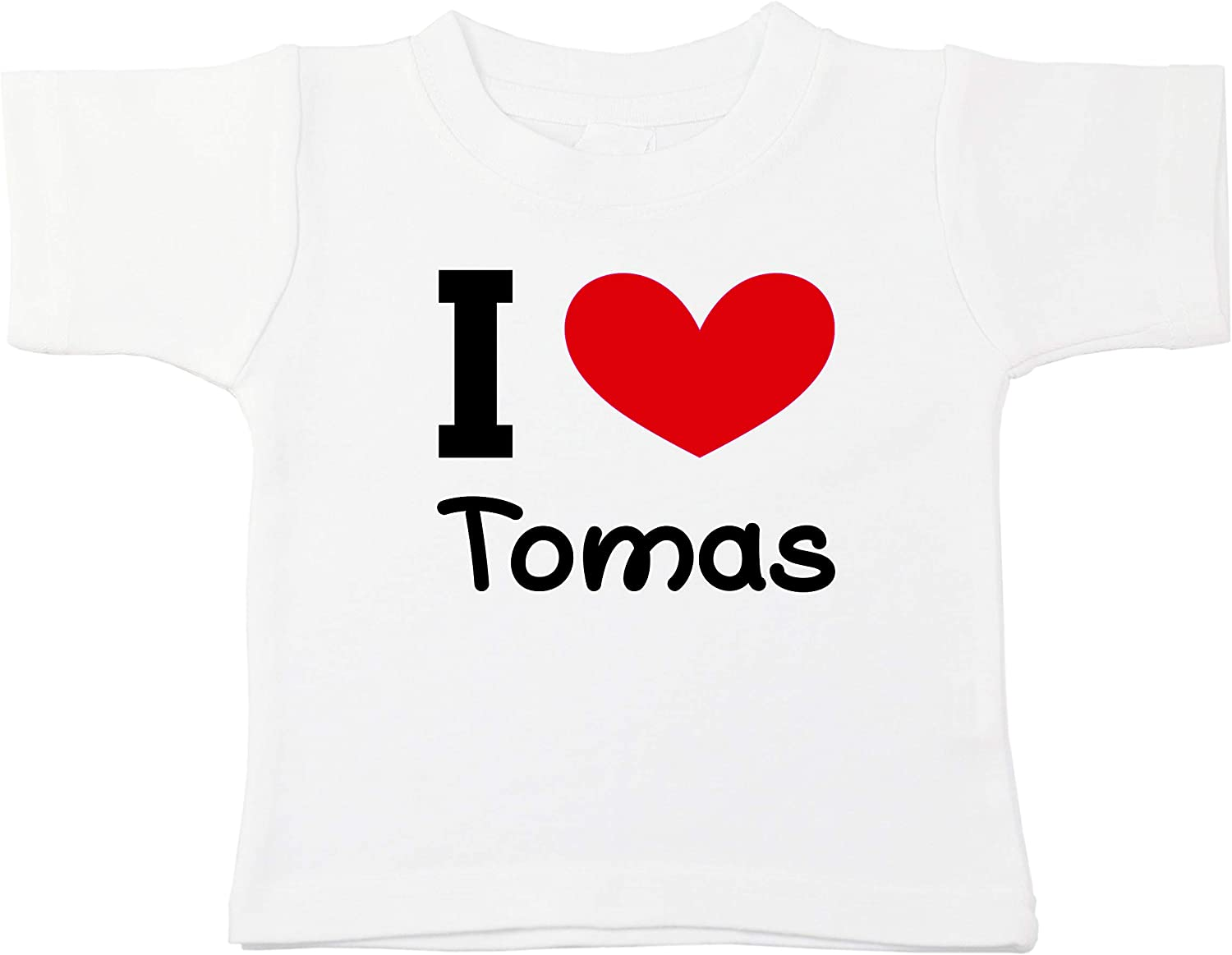 Kinacle I Love Tomas Personalized Baby//Toddler T-Shirt