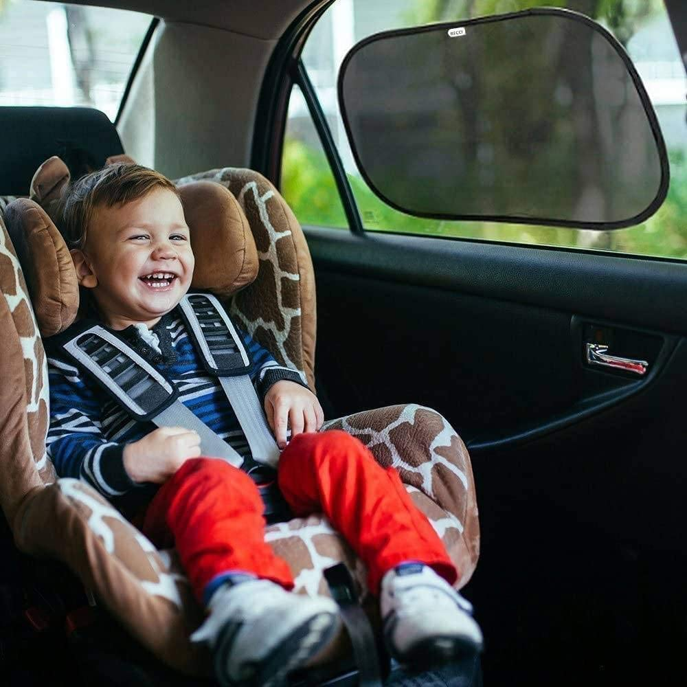 Moon landing Car Sun Shades for Baby Kids Sun UV Protection,2 Pack KUGEN Car Sun Shades,Side Window Sunshades