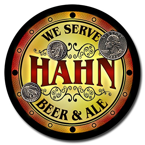 hahn-family-name-beer-and-ale-rubber-drink-coasters-set-of-4