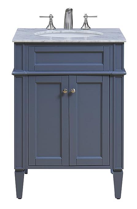 Elegant Decor Vf 1027 Single Bathroom Vanity Set 24 Grey Vf 1027