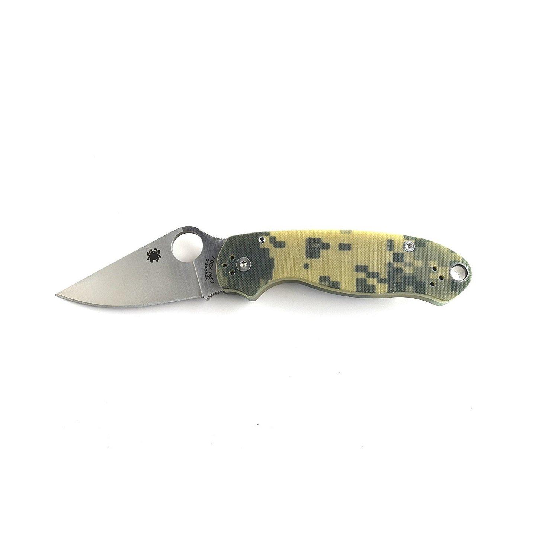 Spyderco Para 3 G-10 PlainEdge Folding Knife, Camo, Left/Right