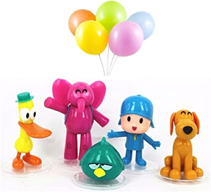 Amazon.com: 5pcs Pocoyo Zinkia Pastel Decoración Topper ...
