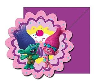 Set 6 invitaciones Trolls Poppy Party (5201184870198)