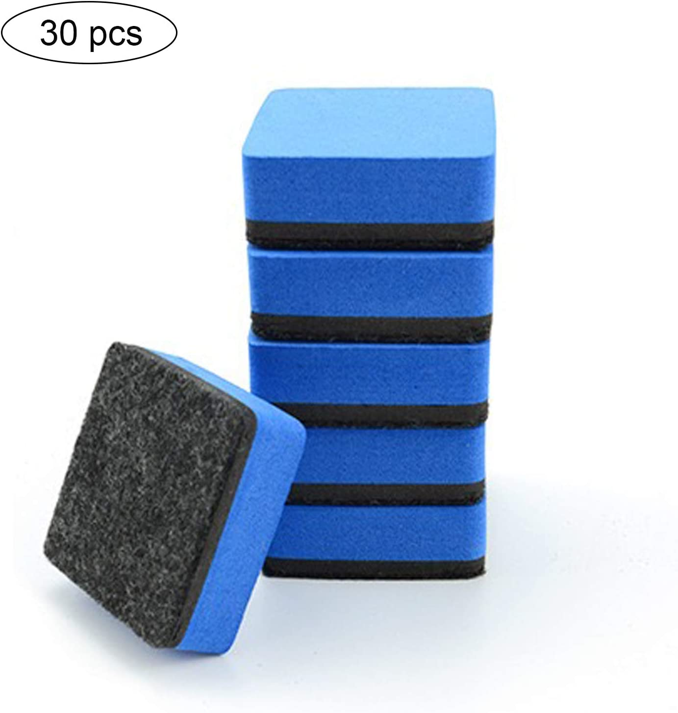 Red Magnetic Whiteboard Erasers 1.97 x 1.97 Inch 30 pcs Mini whiteboard Eraser Dry Erasers Chalkboard Cleaner Wiper for Classroom Home Office,