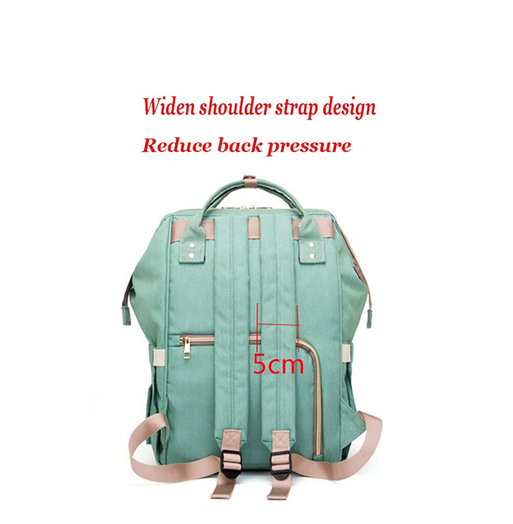 Diaper Bag Backpack, Waterproof Large Capacity Features Stylish Durable Travel Backpack by Yuanyang (Image #5)