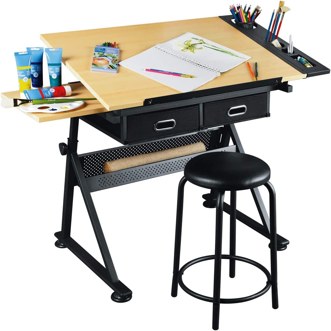 Artist S Loft Arts And Crafts Creative Center Art Desk And Craft Center With Storage