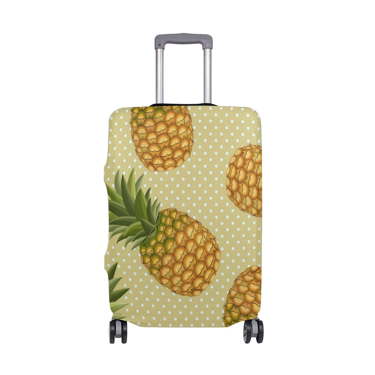 Summer Tropical Pineapples Polka Dots Suitcase Luggage Cover Protector for Travel Kids Men Women