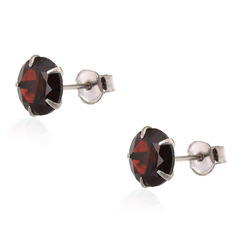 Ring /& Pendant Set Natural Red Garnet Gemstone Fine Jewelry for Women /& Girls Mughal Gems /& Jewellery 925 Sterling Silver Earring