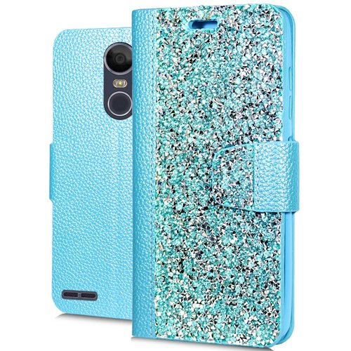 Leather T-mobile Case Fitted - Stylo 3/Stylo 3 Plus Leather Pouch, HJ Power[TM] For LG [Stylo 3] [Stylus 3] [Stylo 3 Plus] (Virgin Mobile, Boost Mobile, T-Mobile, Cricket)--Rock Fitted Leather PU WALLET POUCH Case Teal