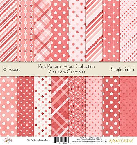 Pattern Paper Pack - Pink Patterns - Scrapbook