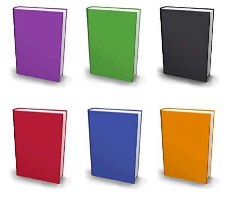 1eb9f6783b92 Stretchable Book Covers, Jumbo, Set of 6, Solid Colors Fabric Bookcovers,  Fits Extra Large Hardcover Textbooks up to 9 x 12, Stretchy Book Covers, ...