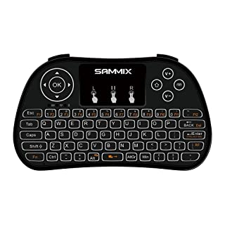 SAMMIX Wireless Mini teclado ergonómico con ratón touchpad para Smart TV Mini PC Android PlayStation Xbox HTPC PC Raspberry Pi