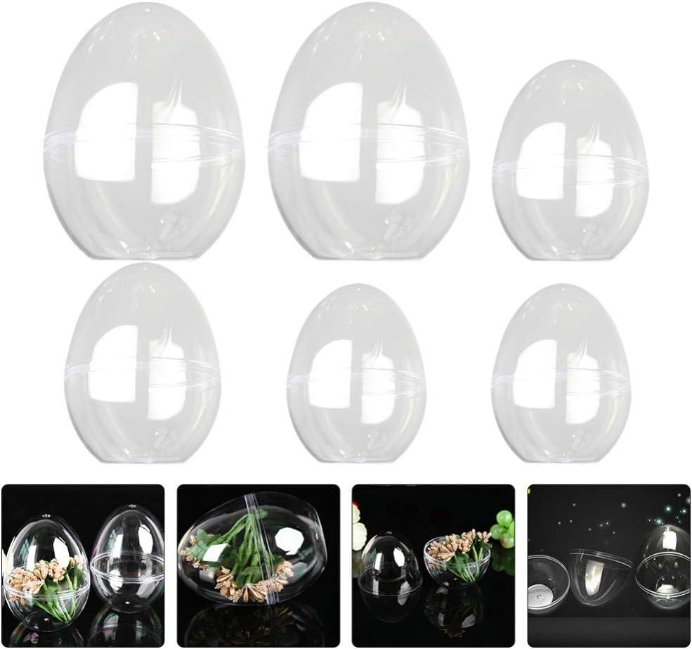 Artibetter 6 Pi/èces Clair /À Remplir en Direct Boule en Plastique Transparent /À Remplir en Direct Ornements Boule De P/âques Oeuf Boules en Plastique Oeufs Boule Contenant Bricolage Bo/îte