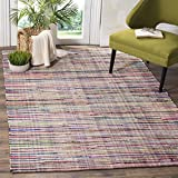 Safavieh Rag Rug Collection RAR240A Ivory and Multi Area Rug, 8' x 10'