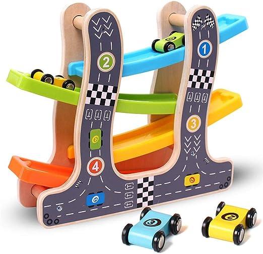 Escalera de Madera Juguete Deslizante para Coche Modelo de Juguete para Coche con Ranura de Madera para Deslizar para niños de 2,3,4,5,6 años Regalos para niños: Amazon.es: Hogar