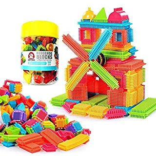 Teytoy 100 Pcs Bristle Shape Building Blocks Toy Set for toddlers Kids