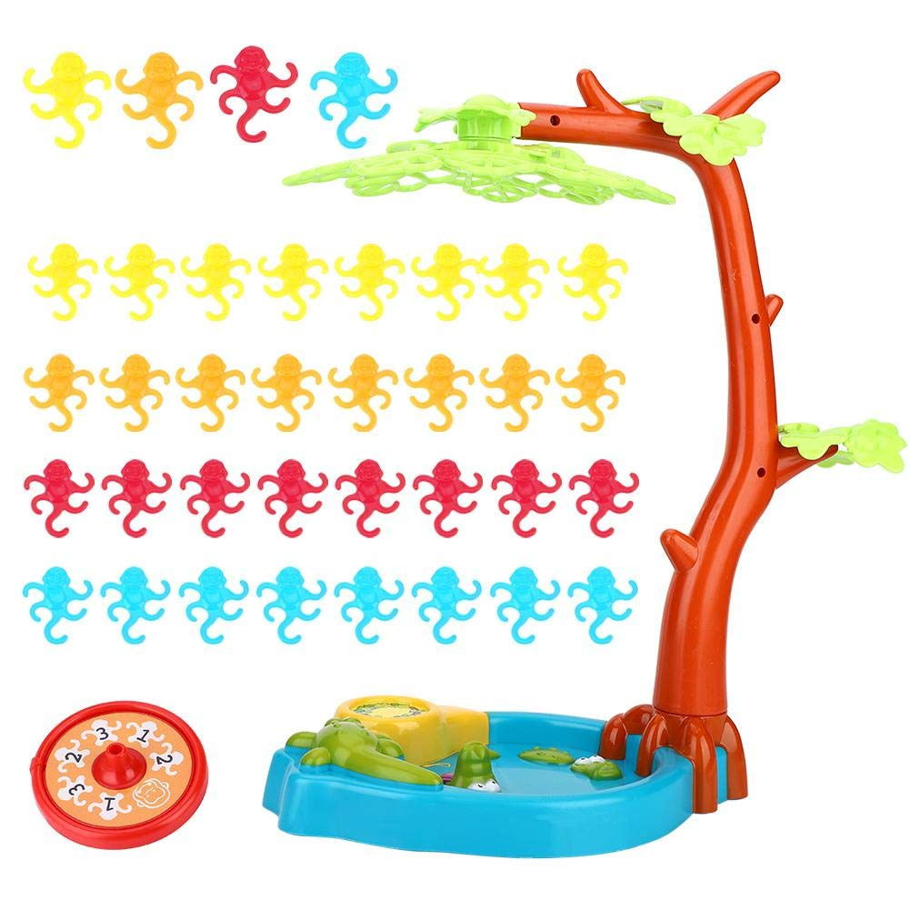 Alomejor Playthings Monkeying Around Monkeys Tree Leaf Balancing Table Game Children Kids Toy by Alomejor